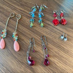 5 Pairs of Anthropologie Earrings